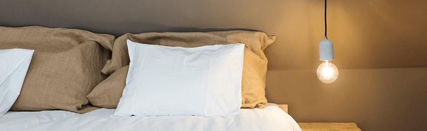 Hängelampen im Schlafzimmer