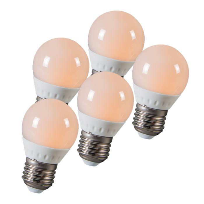 LED-Kugel-E27-3W-250-Lumen-ca.-25W-5er-Set