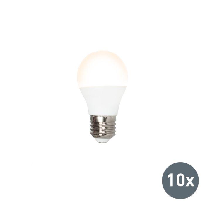 10er-Set-LED-Leuchtmittel-G45-E27-5W/400Lumen-3000K-warmweiß