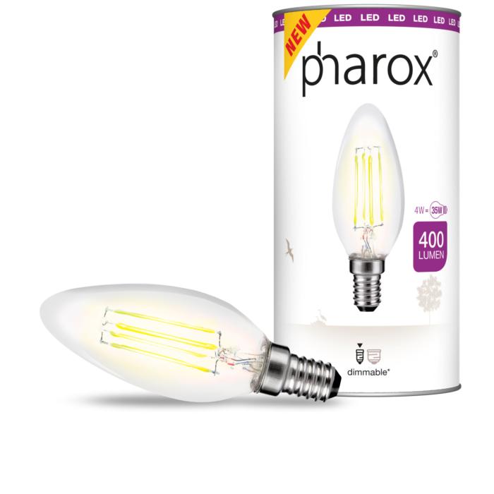 Pharox-LED-Kerzenlampe-klar-E14-4W-400-Lumen