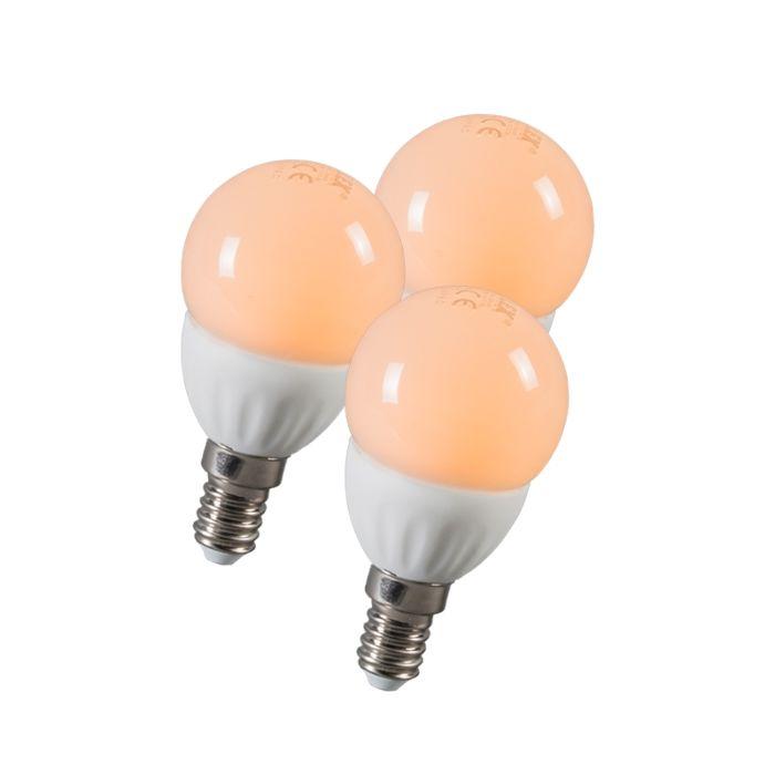 LED-Kugel-E14-3W-250-Lumen-ca.-25W-3er-Set