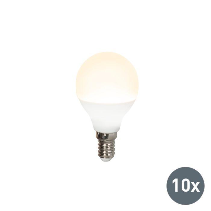 10er-Set-LED-Leuchtmittel-G45-E14-3W/-250Lumen-3000K-warmweiß