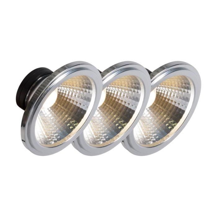 AR111-LED-Lampe-COB-7W-24-°-3er-Set