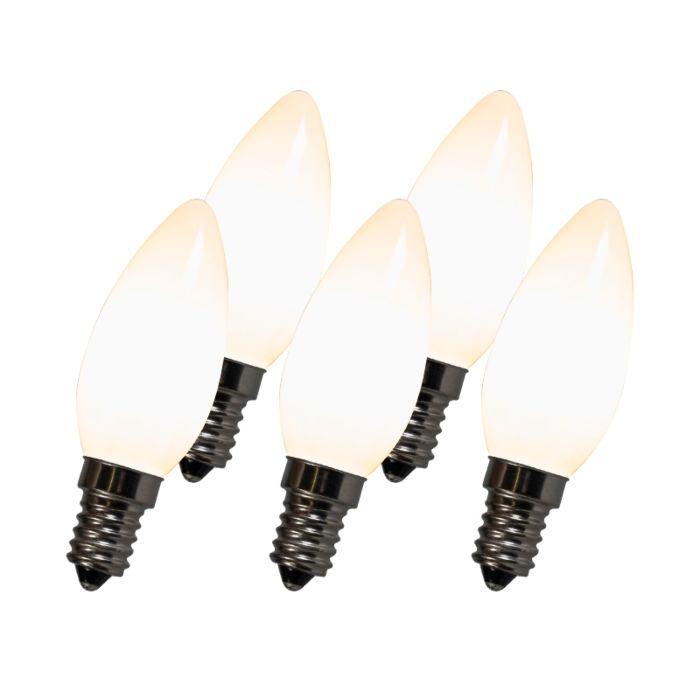 LED-Glühlampe-C35-E14-2W-2700K-weiß-5er-Set