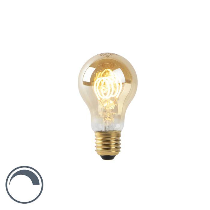 LED-Lampe-A60-E27-4W-2200K-Gold-Wendelfaden-dimmbar