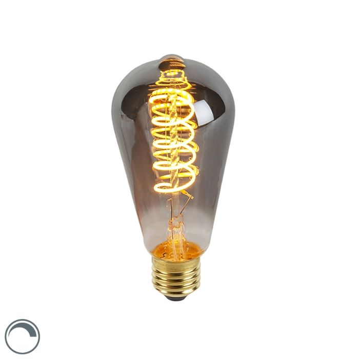 E27-dimmbare-LED-Twisted-Filament-Lampe-Rauch-ST64-100-lm-2100K