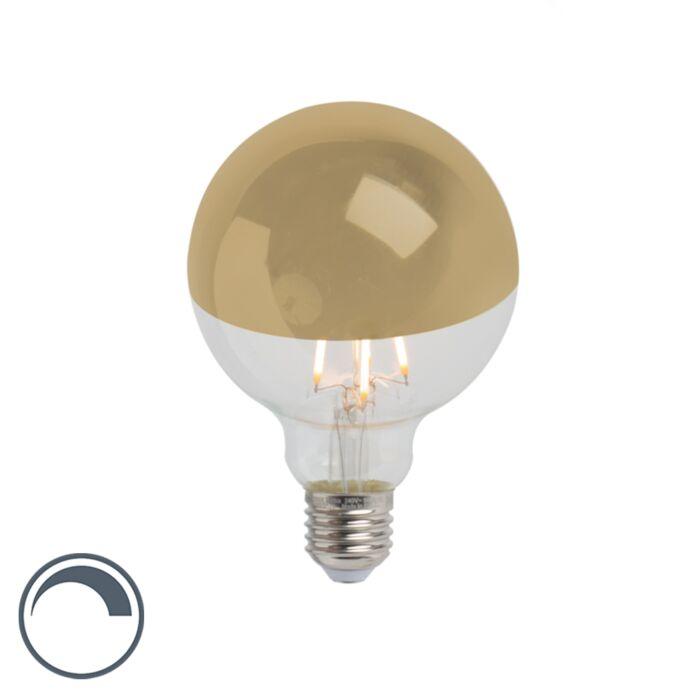 E27-dimmbarer-LED-Filamentlampe-verspiegelt-G95-gold-280lm-2300K