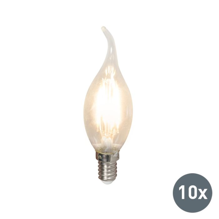 10er-Set-LED-Glühlampen-E14-240V-3.5W-350lm-BXS35-dimmbar