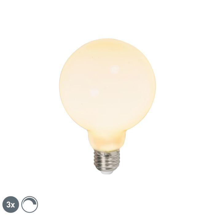 Set-mit-3-LED-Lampen-E27-240V-6W-650lm-dimmbar