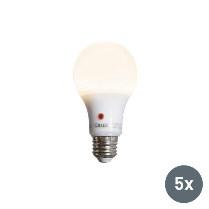 5er-Set-LED-Leuchtmittel-A65-E27-8W-710-Lumen-mit-Sensor