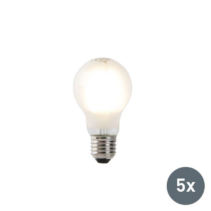 5er-Set-E27-LED-Glühlampen-A60-Milchglas-4W-450-lm-2700K