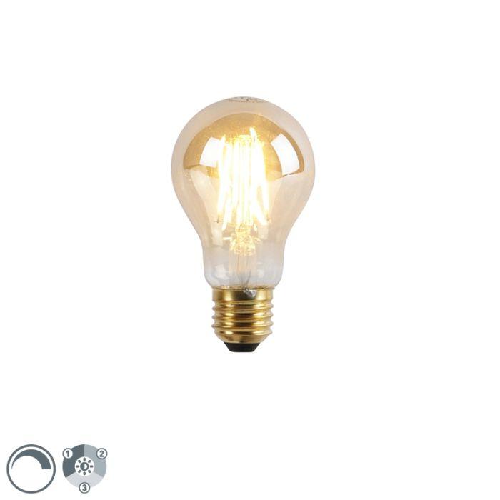 E27-3-stufige-dimmbare-LED-Lampe-A60-Goldline-5W-550-lm-2200K
