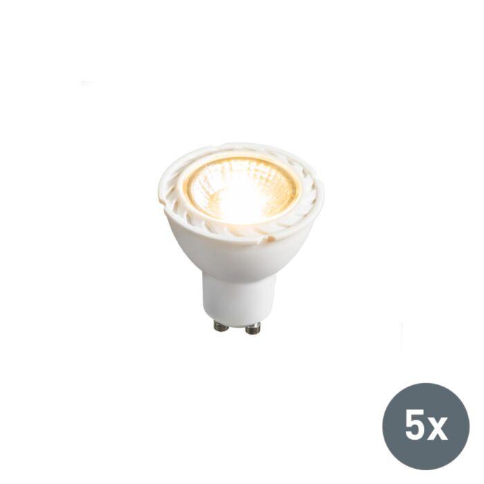5er-Set-LED-Leuchtmittel-GU10-240V-7W-2700K-dimmbar