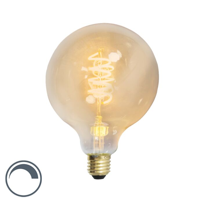 LED-Twisted-Lampe-Globus-E27-240V-4W-200lm-dimmbar