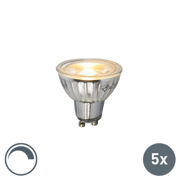 5er-Set-GU10-dimmbare-LED-Lampe-7W-500LM-2700K