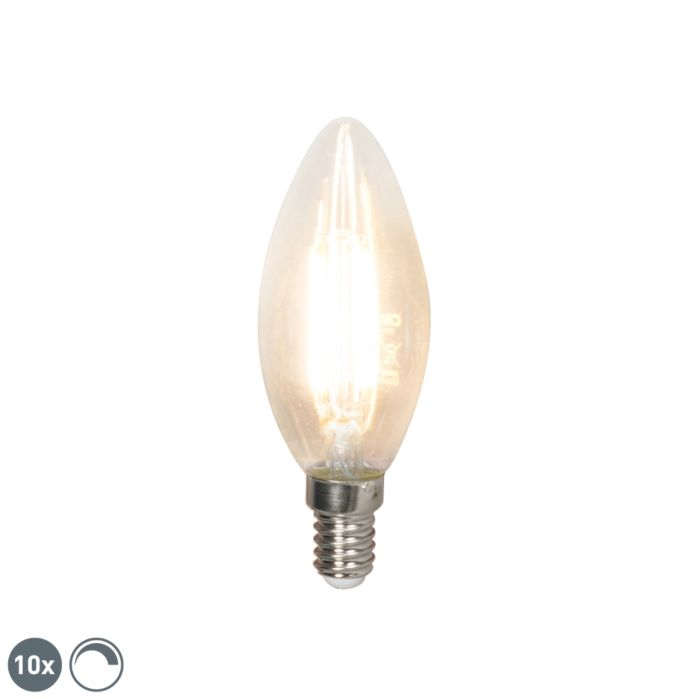 Set-mit-10-LED-Kerzenlampen-E14-240V-3.5W-350lm-B35-dimmbar