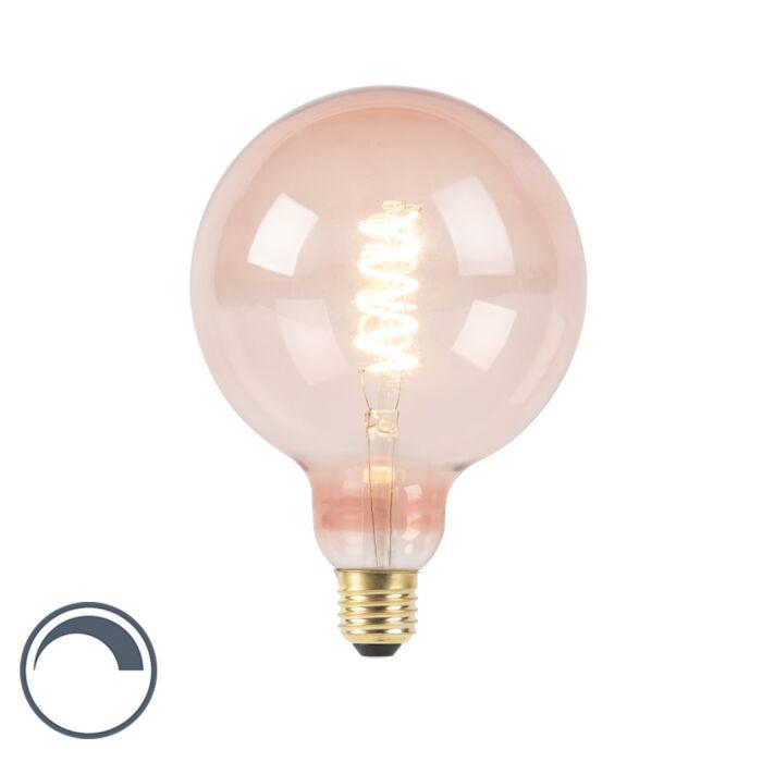 E27-dimmbare-LED-Spiral-Glühlampe-G125-pink-200-lm-2100K