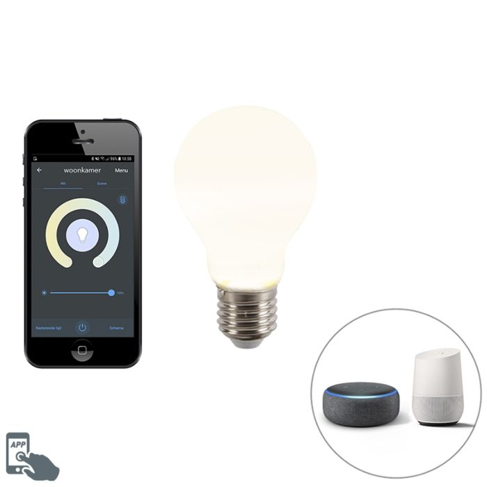 Smart-D27-dimmbare-LED-Lampe-mit-App-A60-806-lm-2200-4000K