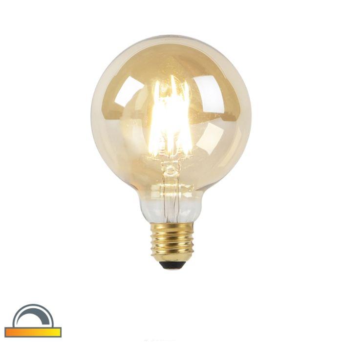 E27-dunkle-bis-warme-LED-Goldline-Glühlampe-G95-8W-2000-2600K