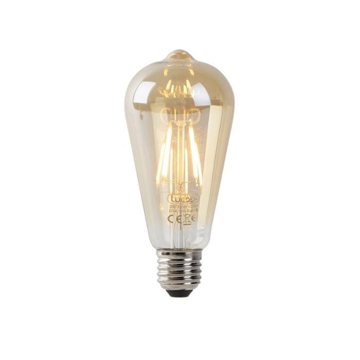 LED-Leuchtkörper-ST64-4W-2200K-gold-mit-Hell-Dunkel-Sensor