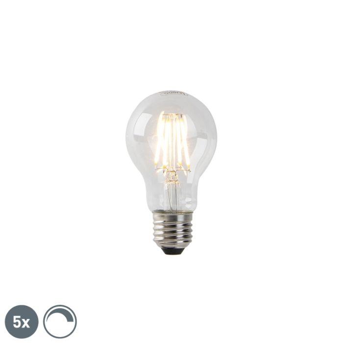5er-Set-dimmbare-E27-LED-Lampen-Klarglas-4W-300-lm-2200K
