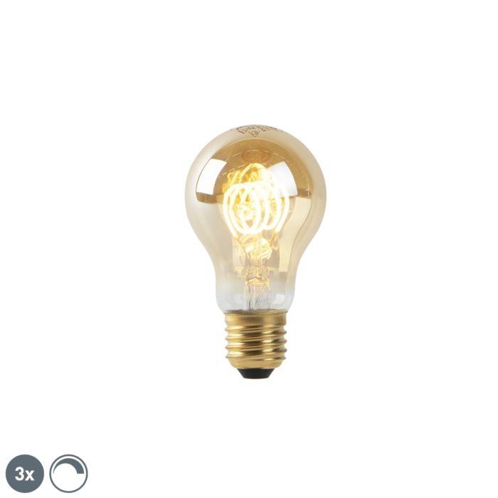 Set-mit-3-dimmbaren-E27-LED-Lampen-Gold-4W-200-lm-2200K