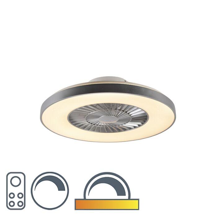 Deckenventilator-Silber-mit-dimmbarem-Sterneffekt---Climo