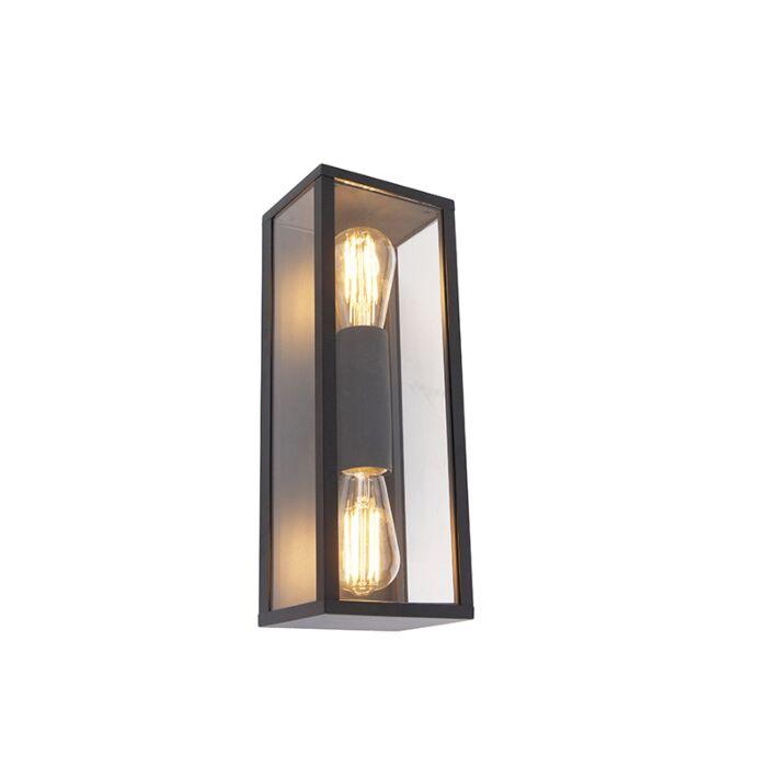 Industrielle Wandleuchte schwarz 38 cm 2 Licht IP44 Charlois