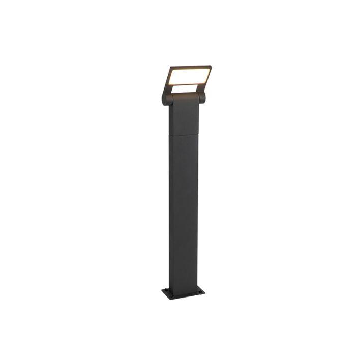 Moderner-Außenmast-grau-inkl.-LED-IP54---Zane