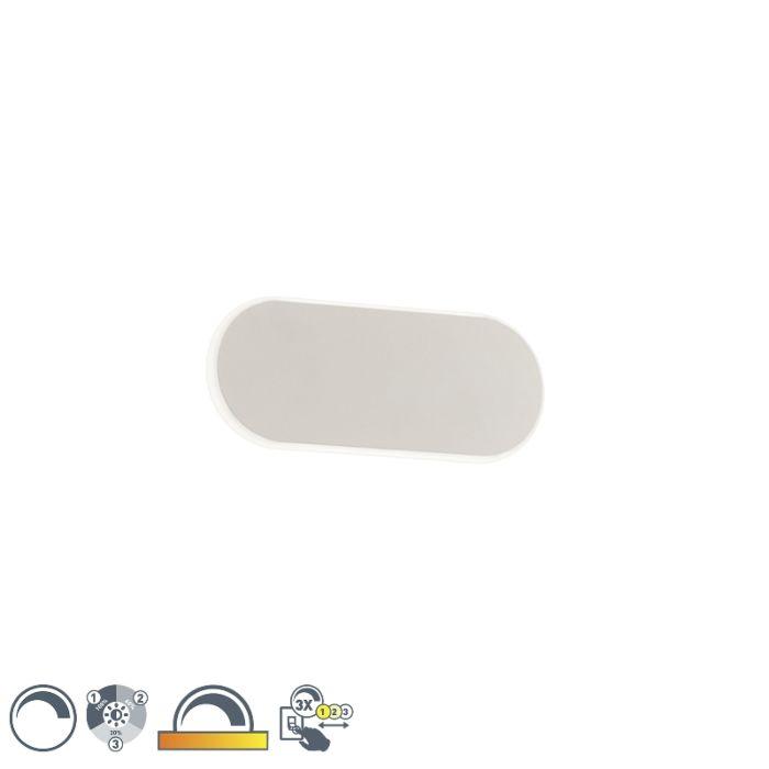 Moderne-Wandleuchte-weiß-20-cm-inkl.-LED-3-stufig-dimmbar---Bram