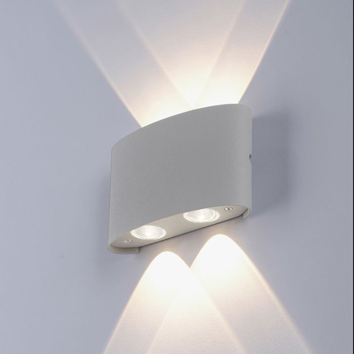 Moderne-Wandleuchte-grau-inkl.-LED-IP54---Wendy