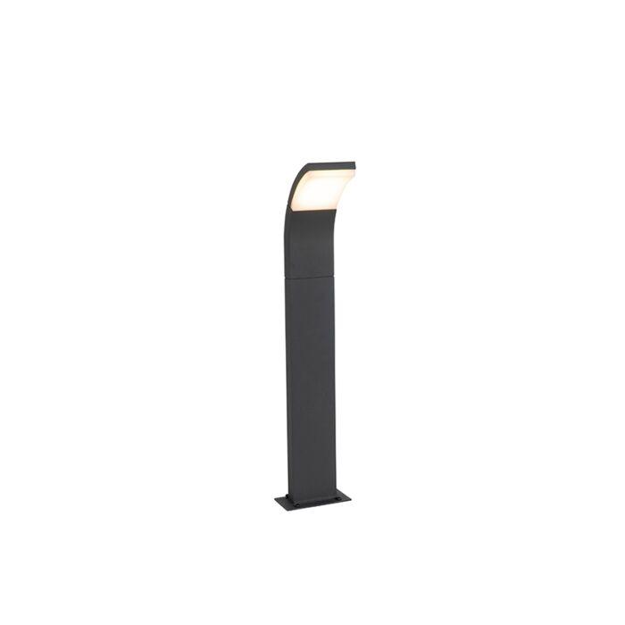 Moderner-Außenmast-grau-inkl.-LED-IP54---Litt