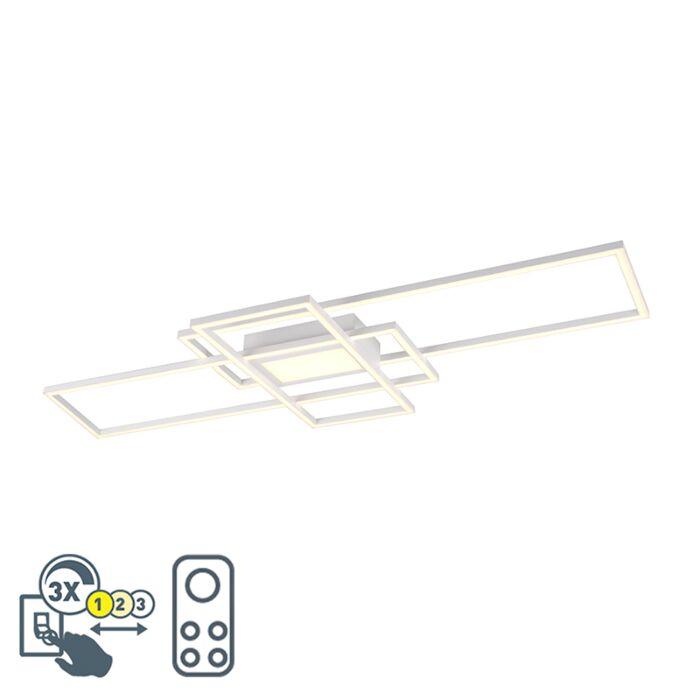 Deckenleuchte-weiß-inkl.-LED,-Fernbedienung-3-Stufen-dimmbar---Riha