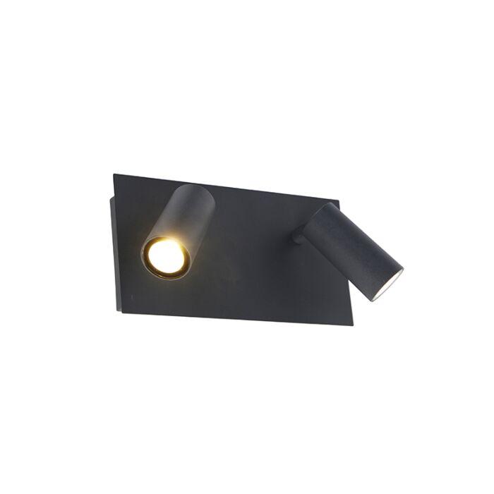Moderne-Außenwandleuchte-grau-IP54-inkl.-LED-2-flammig---Simon