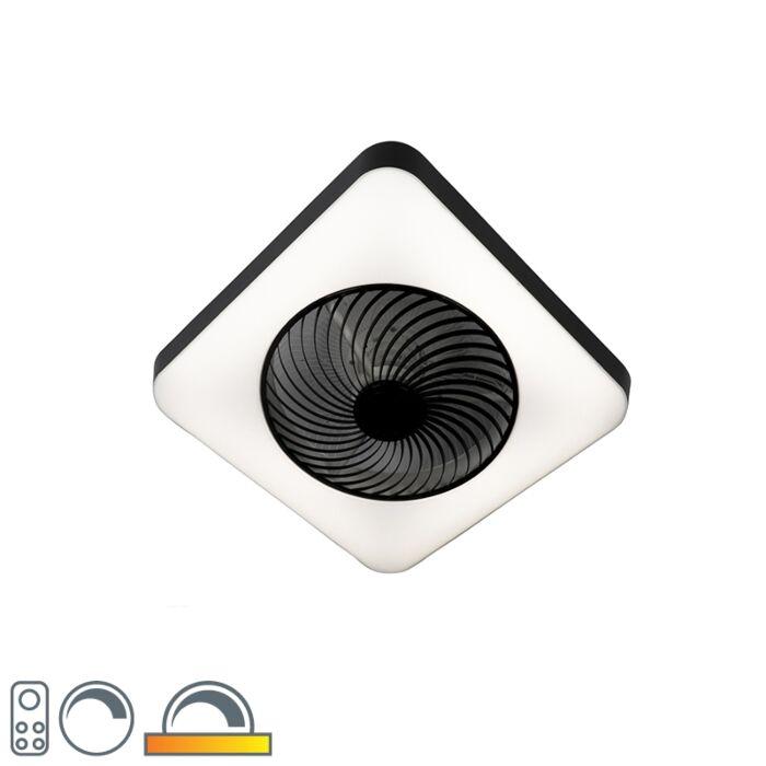 Deckenventilator-quadratisch-schwarz-inkl.-LED-dimmbar---Climo