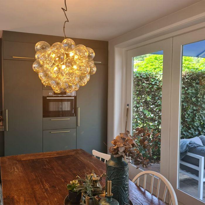 Art-Deco-Hängelampe-schwarz-mit-Glas-8-Licht---Uvas