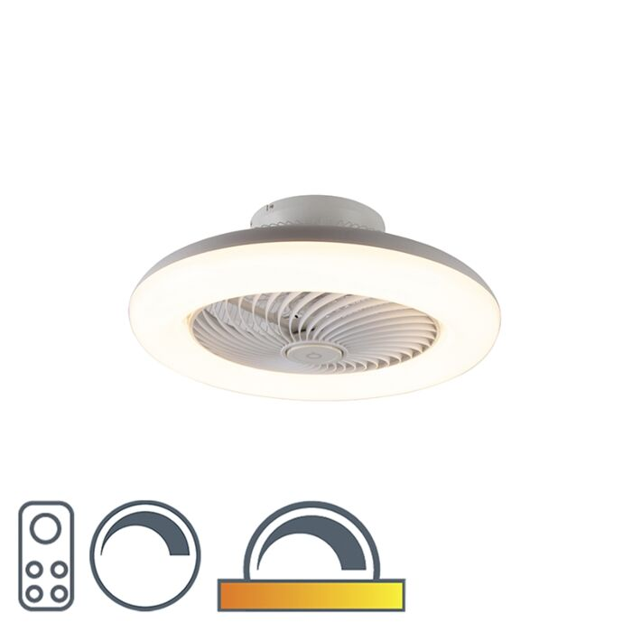 Design-Deckenventilator-weiß-inkl.-LED-dimmbar---Clima