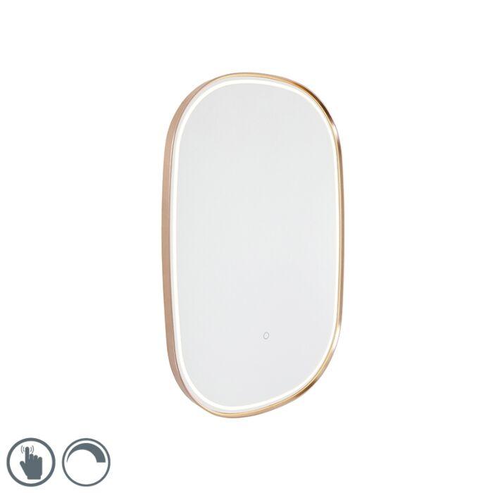 Badspiegel-Kupfer-inkl.-LED-mit-Touchdimmer-oval---Miral