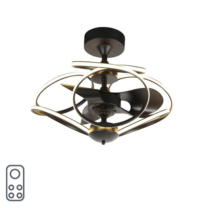 Design-Deckenventilator-schwarz-mit-Fernbedienung-inkl.-LED---Kauv