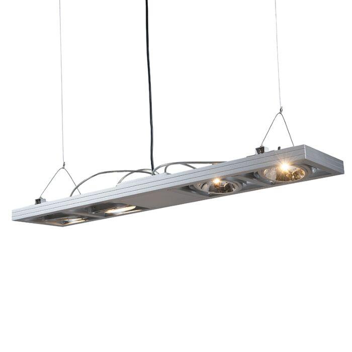 Pendelleuchte-Kardan-4-lang-Aluminium