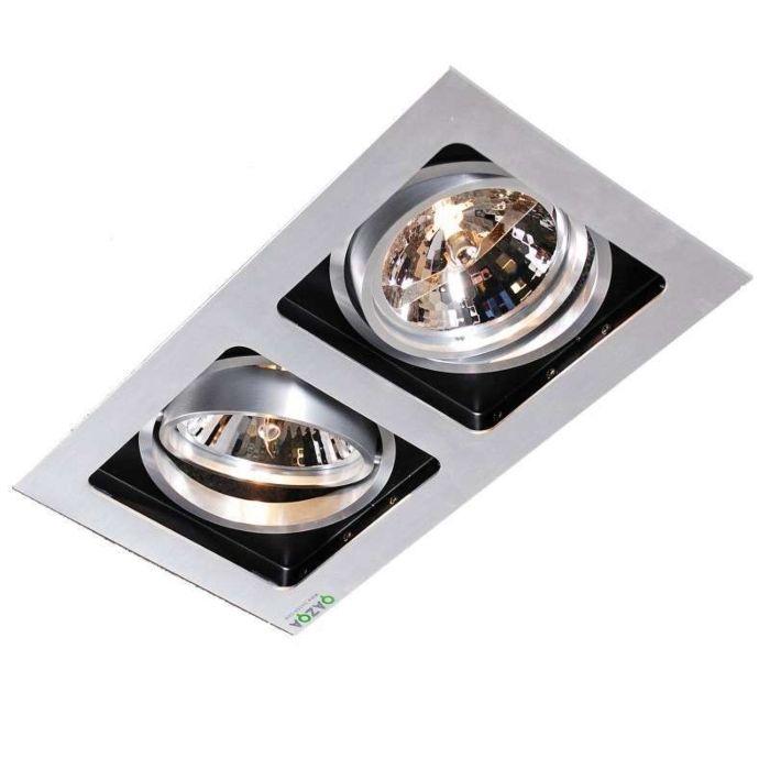 Einbauspot-Qure-2-Aluminium