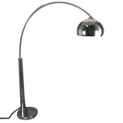 Bogenlampe-Chrom-mit-Chromschirm