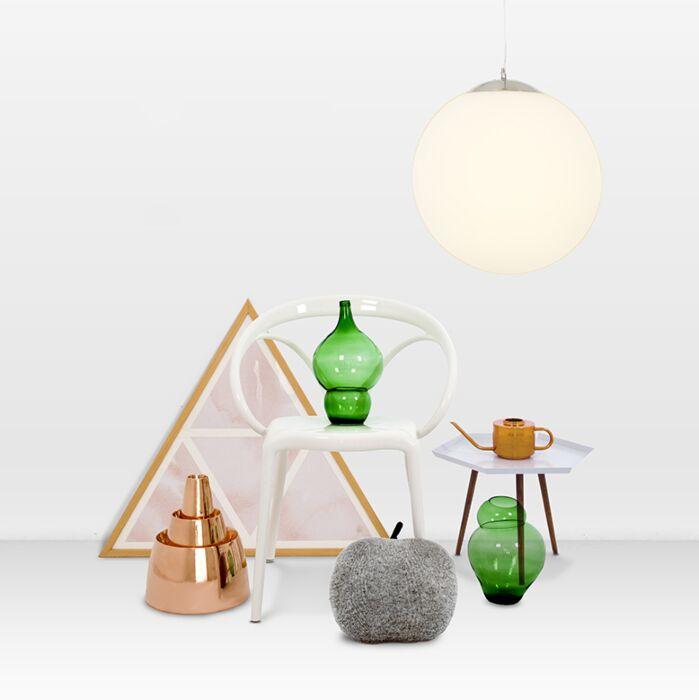 Moderne-Hängelampe-Glas-40cm---Ball