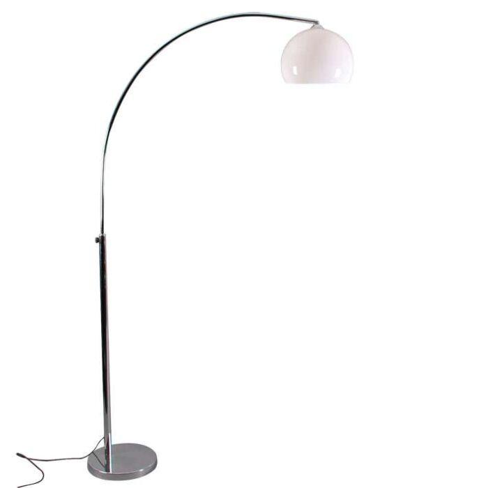 Kleine-Chromlampe-mit-weißem-Schirm