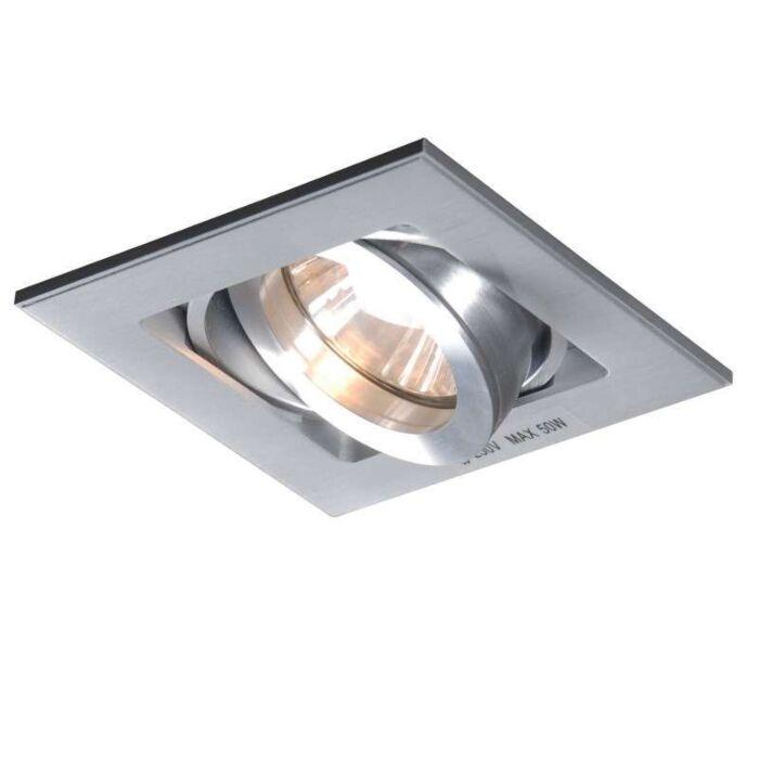 Einbaustrahler-Quadro-1-Aluminium