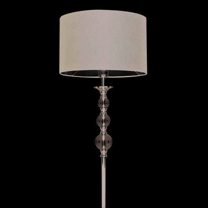 Calabash-Chrom-Stehlampe-mit-schwarzem-Schirm
