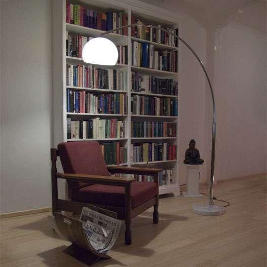 Große-Bogenlampe-Chrom-Basic