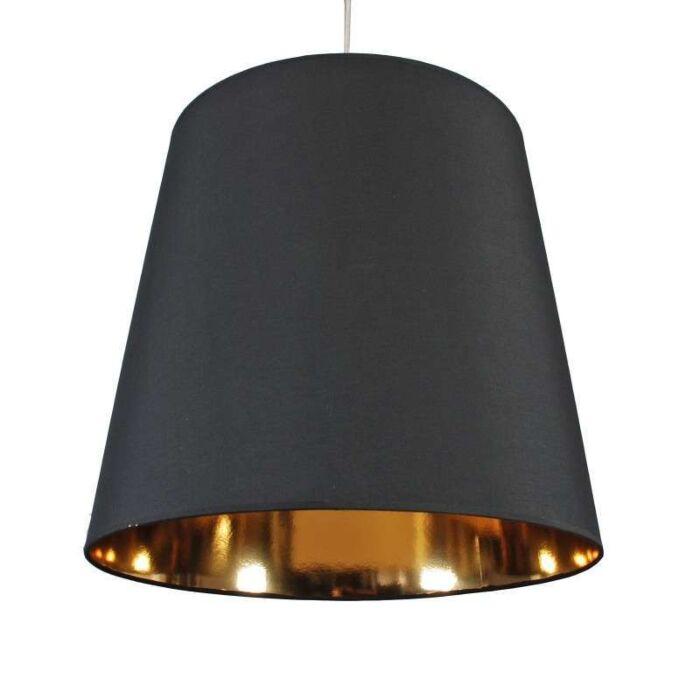 Schirm-Hängelampe-schwarz-gold