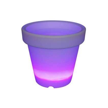 Beleuchteter-LED-Blumentopf-klein