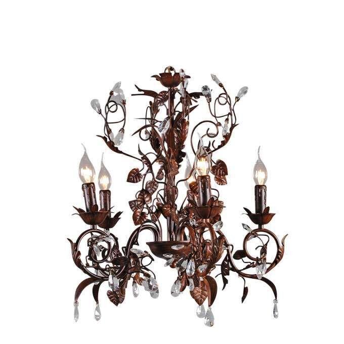 Romantischer-antiker-brauner-Kronleuchter-mit-5-Lichtern